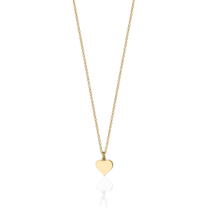 Heart Charm Necklace | Gold Plated