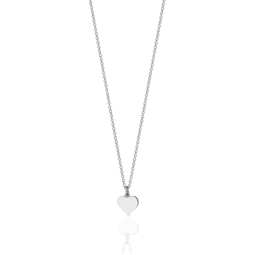 Heart Charm Necklace | Sterling Silver