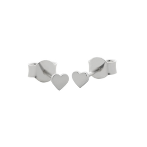 Heart Micro Studs | Sterling Silver