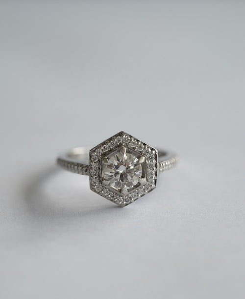 Hex Engagement Ring | 18ct White Gold