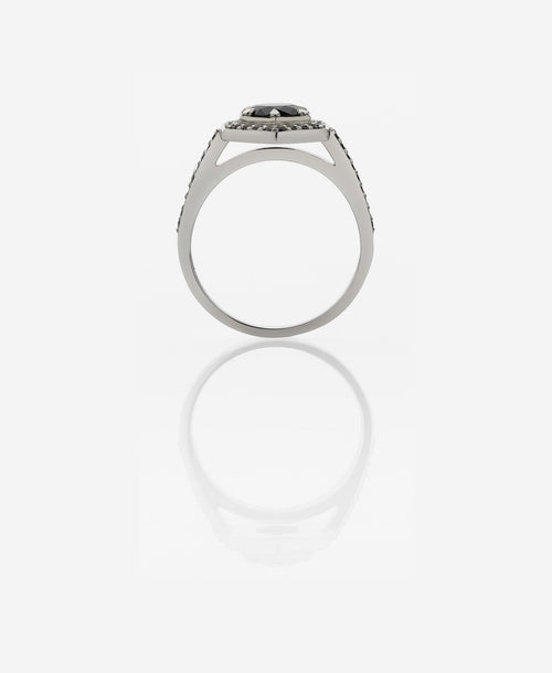 Hex Engagement Ring | 9ct White Gold