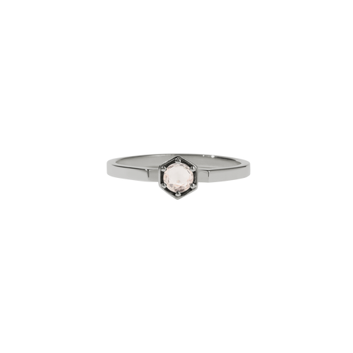 Hexagon Solitaire Ring | Platinum