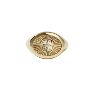 Inez Signet Ring | Gold Plated