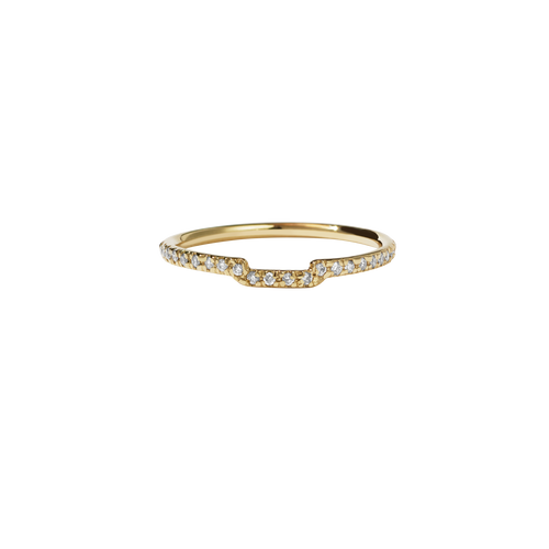 Juliet Band Pave | 14ct Yellow Gold