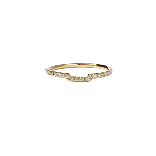 Juliet Band Pave | 9ct Yellow Gold