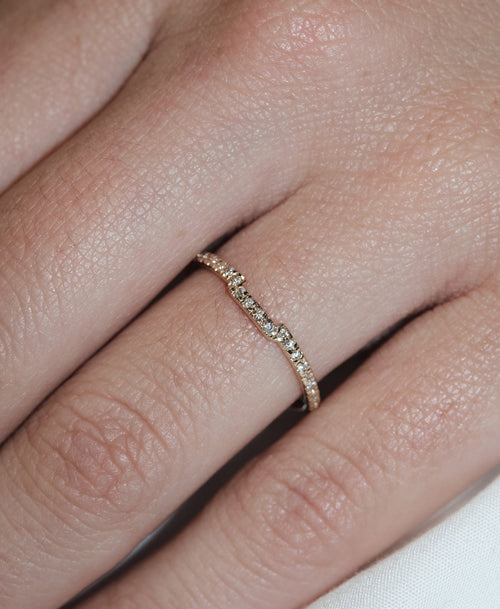 Juliet Band Pave | 9ct White Gold