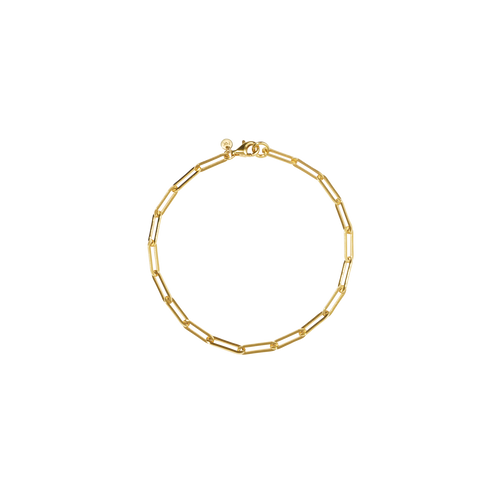 Paperclip Light Bracelet | Gold Plated