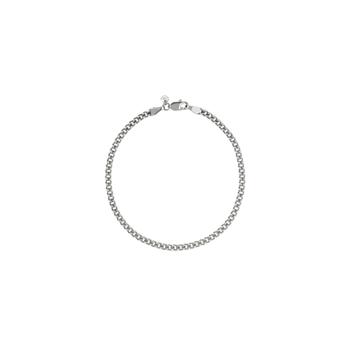 Curb Chain Bracelet | Sterling Silver