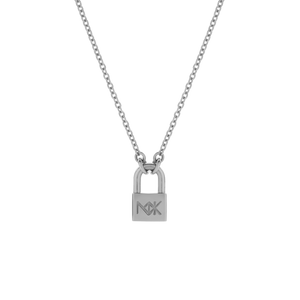 Lock Necklace Medium | Sterling Silver