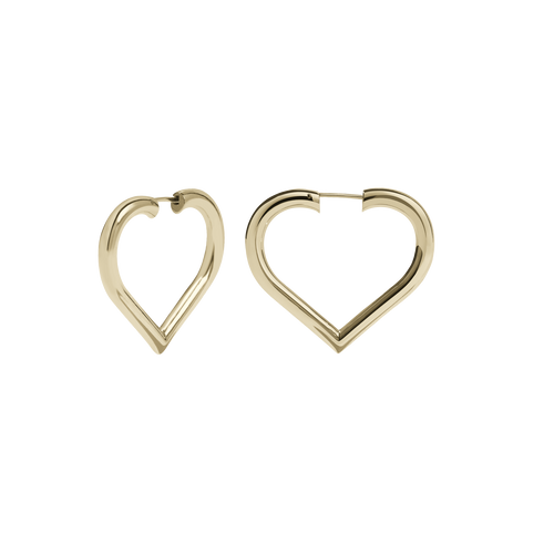 Love Hoops Medium | Gold Plated