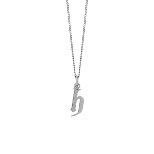 Lowercase Letter Necklace | Sterling Silver