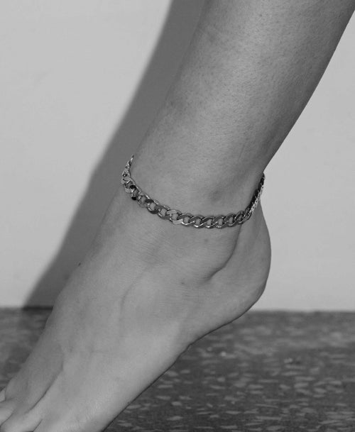 Lucien Chain Anklet | Sterling Silver