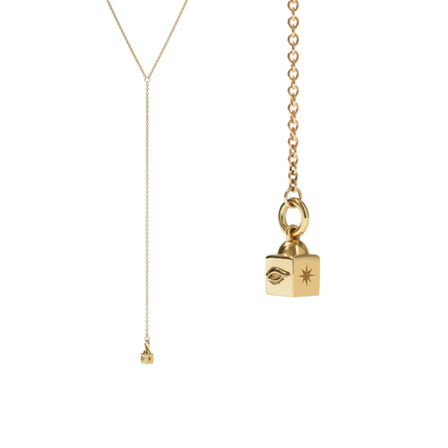 Lumiere Lariat Necklace | Gold Plated