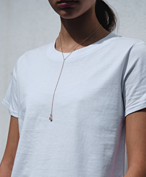 Lumiere Lariat Necklace | 9ct Yellow Gold