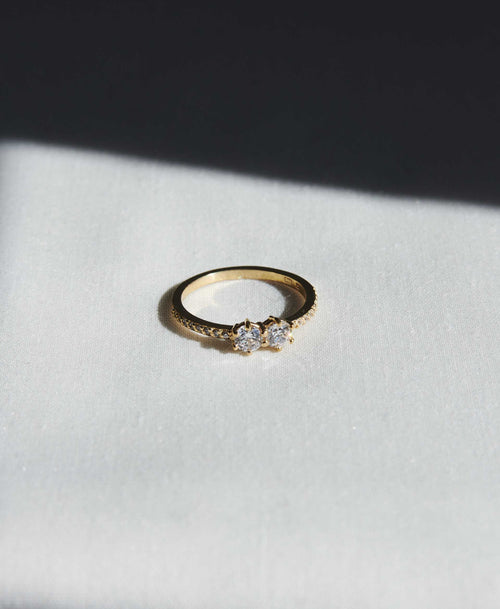 Luna Ring 0.5ct | 18ct Yellow Gold