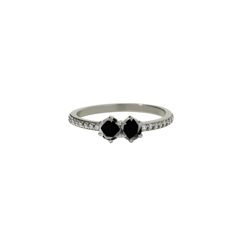 Luna Ring 0.5ct | 18ct White Gold