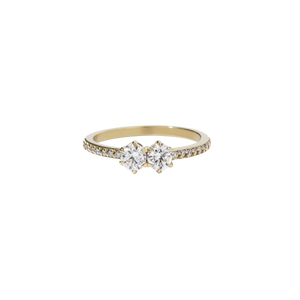 Luna Ring 0.5ct | 9ct Yellow Gold