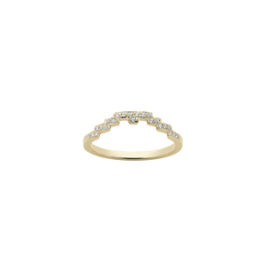 Metropolis Band Pave | 9ct Yellow Gold