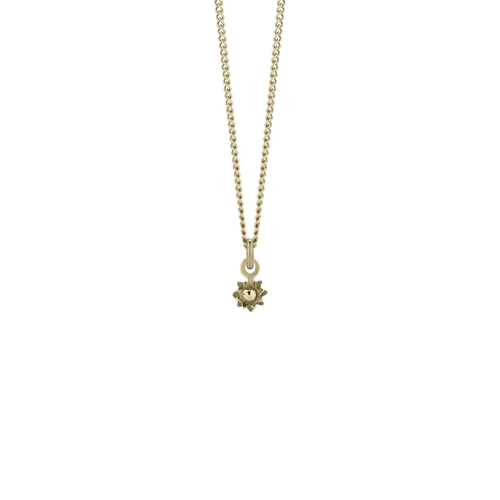 Micro Protea Charm Necklace | Gold Plated