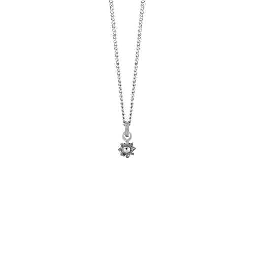 Micro Protea Charm Necklace | Sterling Silver