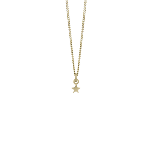 Micro Star Charm Necklace | Gold Plated