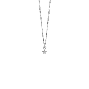 Micro Star Charm Necklace | Sterling Silver