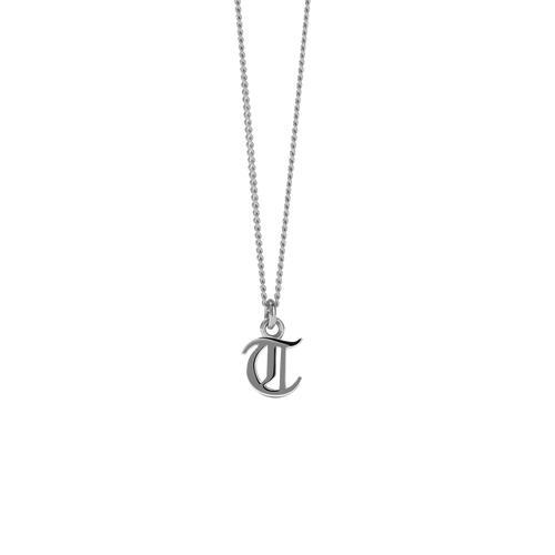 Mini Letter Charm Necklace | Sterling Silver
