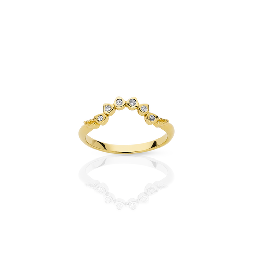 Mini Protea Band | 18ct Yellow Gold