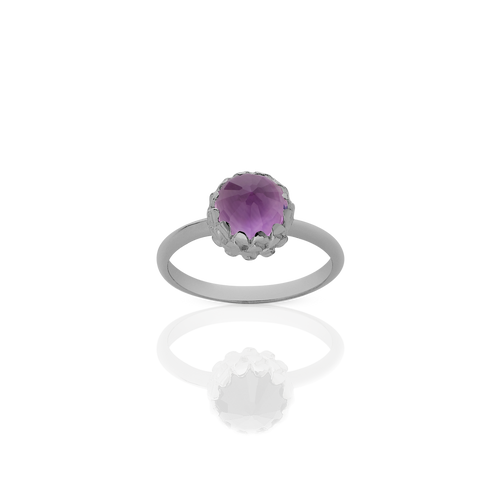 Mini Protea Ring | Platinum