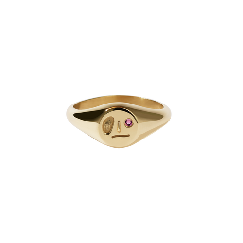 Miro Signet Ring | Gold Plated