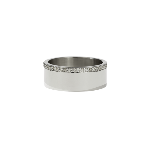 Outline Band | 14ct White Gold