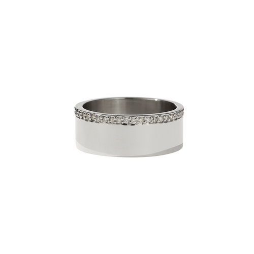 Outline Band | 9ct White Gold