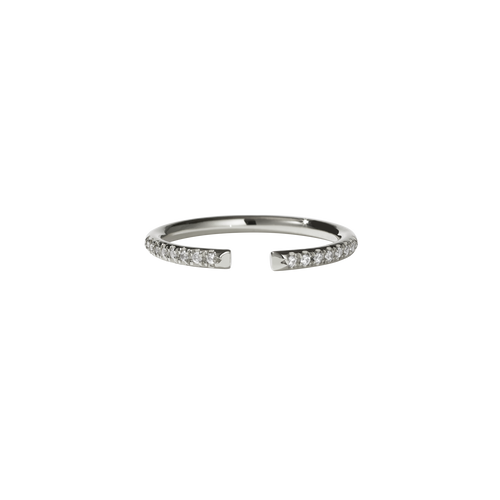 Paloma Band Pave | 14ct White Gold