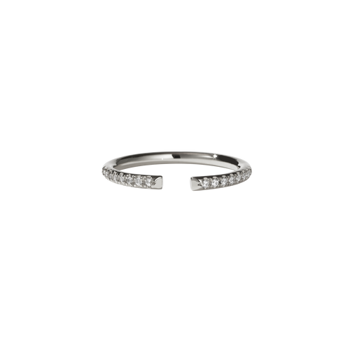 Paloma Band Pave | 9ct White Gold