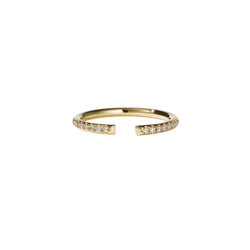 Paloma Band Pave | 9ct Yellow Gold