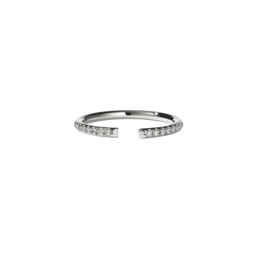 Paloma Band Pave | Platinum