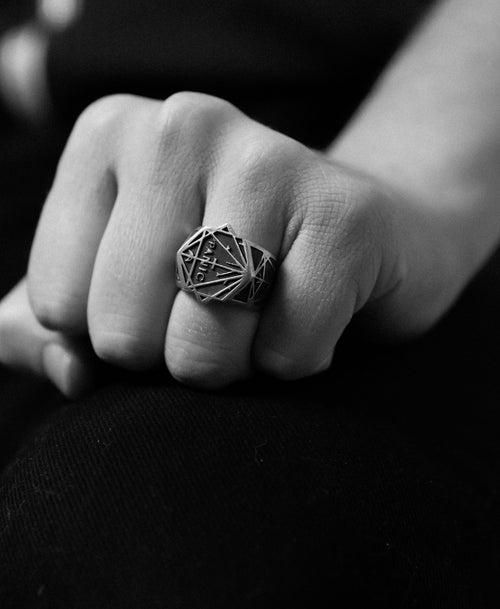 Andrew McLeod Panic Ring Oxidized | Sterling Silver