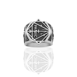 Panic Ring Oxidized | Sterling Silver