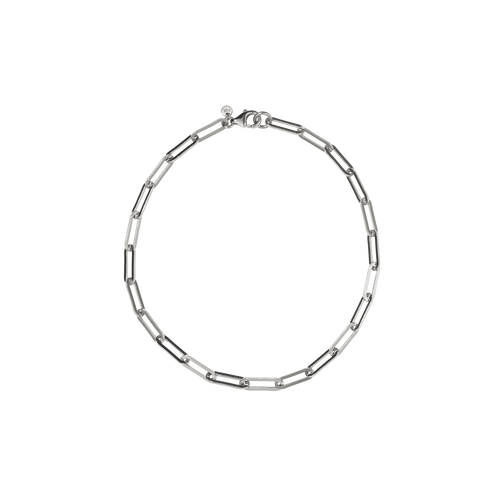 Paperclip Heavy Anklet | Sterling Silver