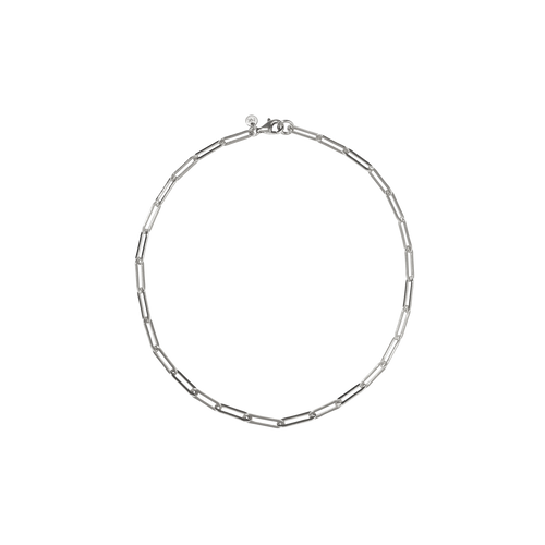 Paperclip Light Anklet | Sterling Silver