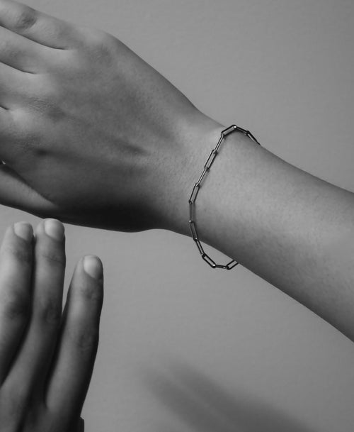 Paperclip Light Bracelet | Sterling Silver