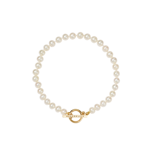 Fob Pearl Anklet | Gold Plated and 9ct Gold Mix