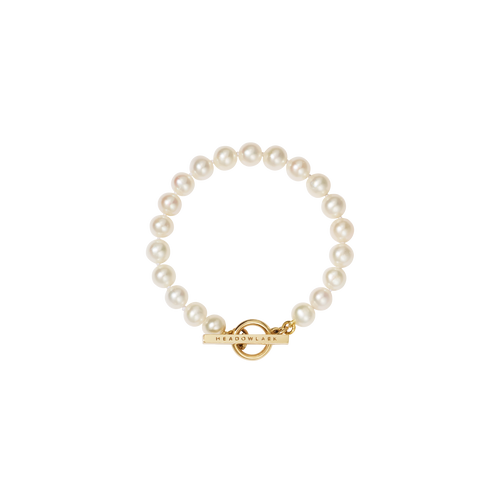 Fob Pearl Bracelet | Gold Plated and 9ct Gold Mix