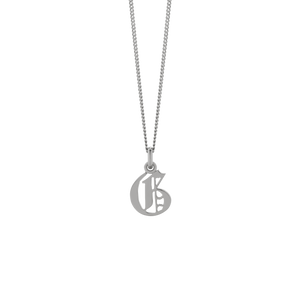 Petite Capital Letter Necklace | Sterling Silver