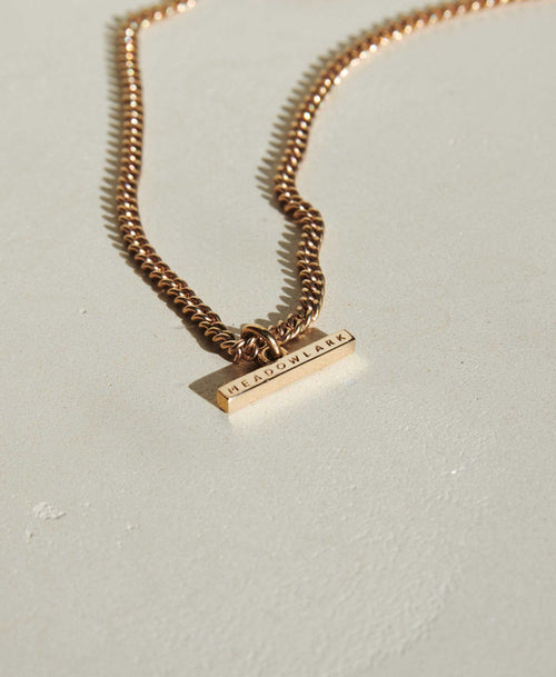 Petite Fob Chain Necklace | Gold Plated