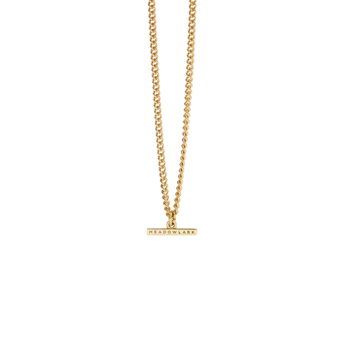 Petite Fob Chain Necklace | 9ct Yellow Gold