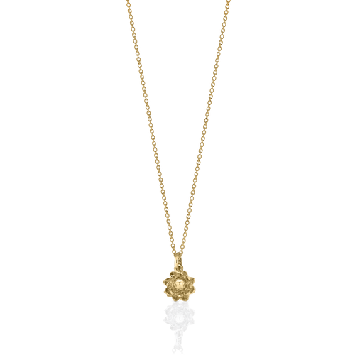 Protea Charm Necklace | Gold Plated