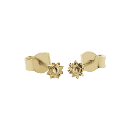 Protea Micro Studs | 9ct Yellow Gold