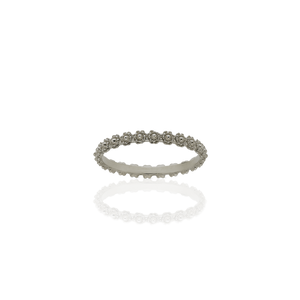 Protea Stacking Band | 18ct White Gold