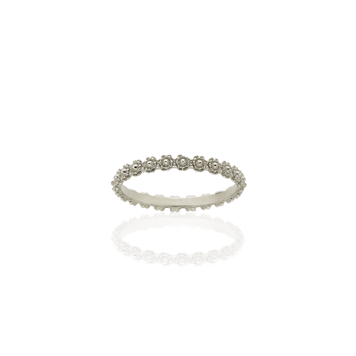 Protea Stacking Band | 9ct White Gold